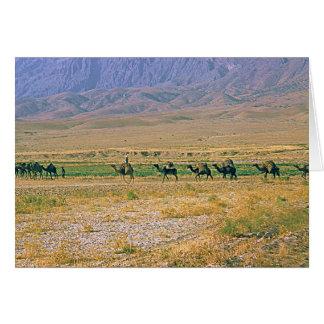 Camel caravan card