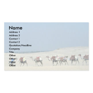 Camel caravan crossing the Sahara Double-Sided Standard Business Cards (Pack Of 100)