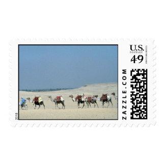 Camel caravan crossing the Sahara Postage Stamp