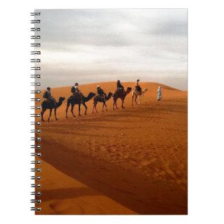 Camel caravan desert beautiful scenery spiral notebook