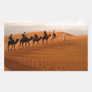 Camel caravan desert beautiful scenery sticker
