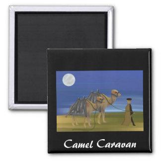 Camel Caravan 2 Inch Square Magnet