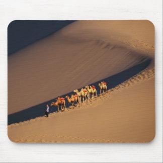Camel caravan on the desert, Dunhuang, Gansu Mouse Pad