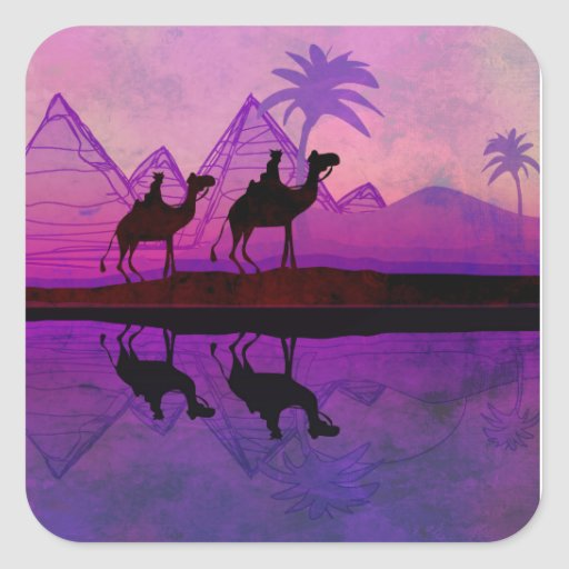 Camel caravan Sticker