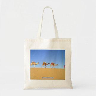 Camel caravan, Thar Desert, India Tote Bag