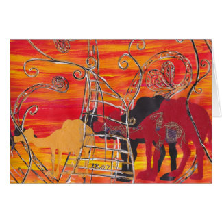 Camel Carnival Card