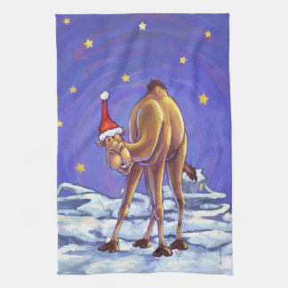 Camel Christmas Hand Towel