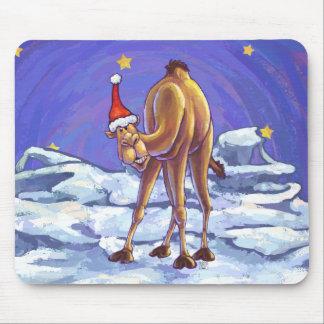 Camel Christmas Mouse Pad