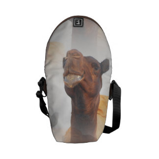 Camel Collage Messenger Bags