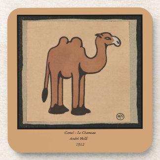 Camel - Colorful Antiquarian Book Illustration Beverage Coaster