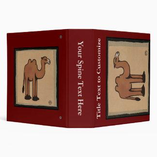Camel - Colorful Antiquarian Book Illustration Binder
