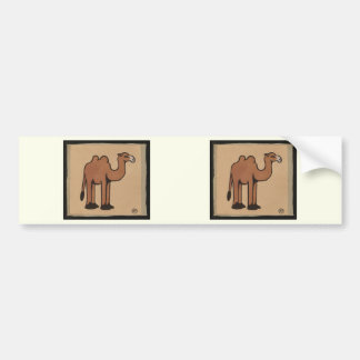 Camel - Colorful Antiquarian Book Illustration Bumper Sticker