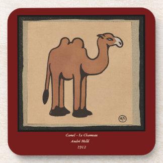 Camel - Colorful Antiquarian Book Illustration Drink Coaster