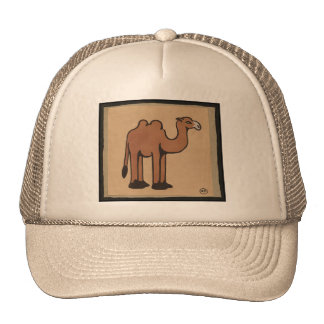 Camel - Colorful Antiquarian Book Illustration Mesh Hat