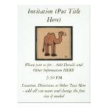 Camel - Colorful Antiquarian Book Illustration 6.5x8.75 Paper Invitation Card