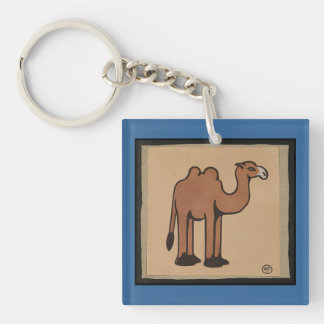 Camel - Colorful Antiquarian Book Illustration Keychain