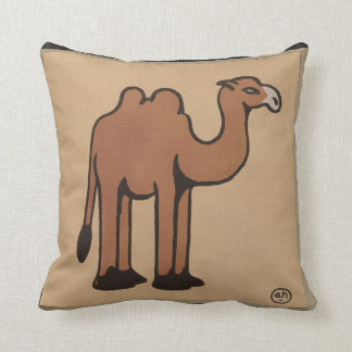 Camel - Colorful Antiquarian Book Illustration Pillows