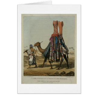 Camel Conveying a Bride to her Husband, engraved b Card