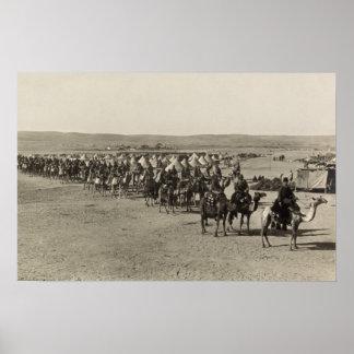 Camel Corps at Beersheba Poster