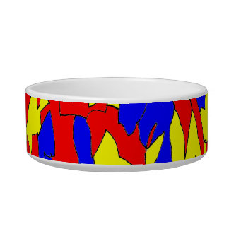 Camel Creature Red Yellow Blue Abstract Design Bowl