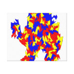 Camel Creature Red Yellow Blue Abstract Design Stretched Canvas Prints