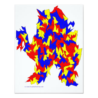 Camel Creature Red Yellow Blue Abstract Design Personalized Announcements