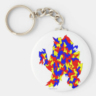 Camel Creature Red Yellow Blue Abstract Design Key Chains