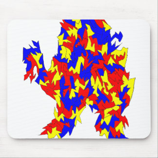 Camel Creature Red Yellow Blue Abstract Design Mousepad