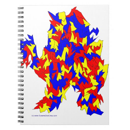 Camel Creature Red Yellow Blue Abstract Design Notebooks