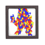 Camel Creature Red Yellow Blue Abstract Design Premium Jewelry Box