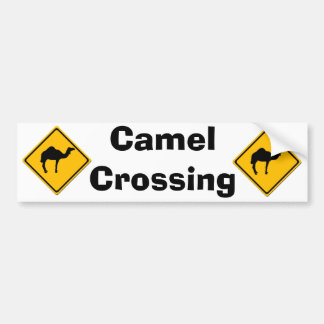 Camel Crossing Bumper Sticker