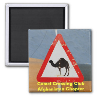 Camel Crossing Club Afghanistan Chapter 2 Inch Square Magnet