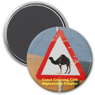 Camel Crossing Club Afghanistan Chapter 3 Inch Round Magnet