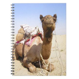 Camel Desert Middle East Peace Love Nature Destiny Spiral Notebook
