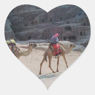 Camel Desert Middle East Peace Love Nature Destiny Heart Sticker