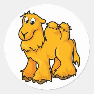 Camel Design Round Stickers