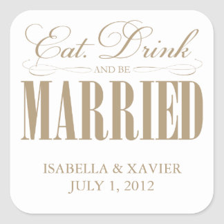 Camel Eat, Drink & Be Married | Stickers