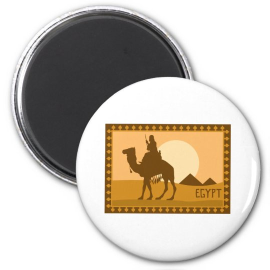 Camel Egypt 2 Inch Round Magnet
