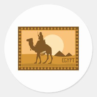 Camel Egypt Round Sticker