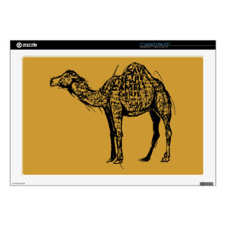 """Camel Encrypted Decals For 17"""" Laptops"""