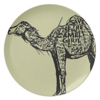 Camel Encrypted Melamine Plate