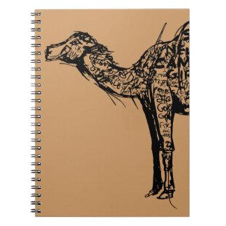 Camel Encrypted Spiral Notebook