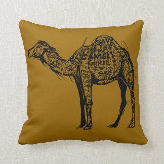 Camel Encrypted Throw Pillow