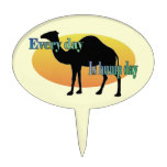 "Camel ""Every Day is Hump Day"" Cake Topper"
