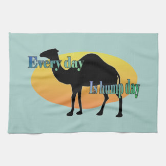 Camel - Every Day is Hump Day Kitchen Towels
