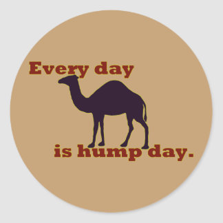 """Camel """"Every Day is Hump Day"""" Stickers"""
