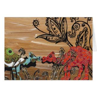 Camel Garden Card