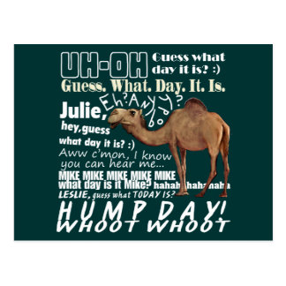 Camel Guess What Day Postcard
