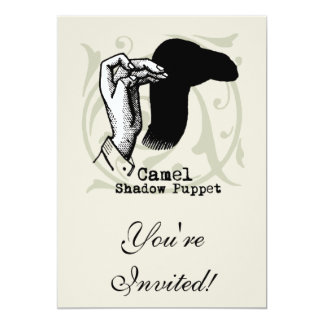 Camel Hand Puppet Shadow Games Vintage Card