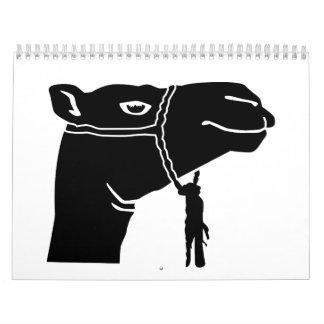 Camel head wall calendar